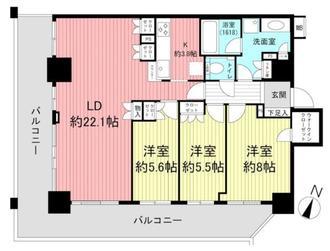 Brillia Tower神戸元町の間取図