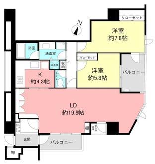 新神戸アパートメントの間取図