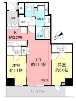 ザ・パークハウス神戸タワーの間取図