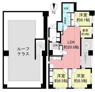 リーガル京都二条城東の間取図