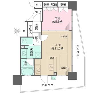 藤和谷町六丁目ホームズの間取図