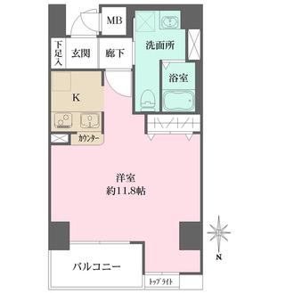 ダイドーメゾン大阪御堂筋の間取図