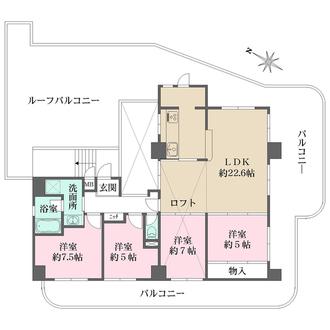 パラツィーナセシリア仁川弐番館の間取図