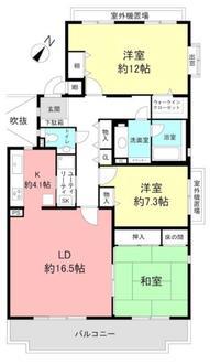 藤和ライブタウン平井山荘の間取図