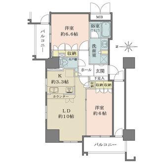 ファミール宝塚グランスイートタワーの間取図