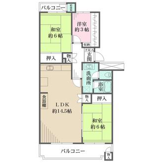 今津浜パークタウン18号棟の間取図
