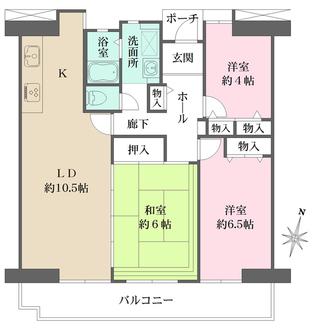 武庫川第二一番街八号棟の間取図