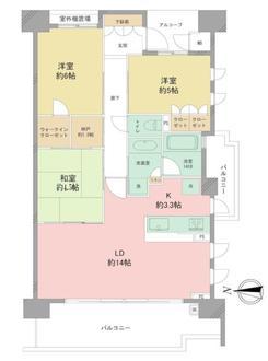 ヴィークコート夙川香櫨園の間取図
