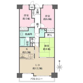 ファミール夙川寿町の間取図