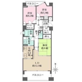 夙川千歳町シティハウスの間取図