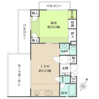 夙川レックスマンションの間取図