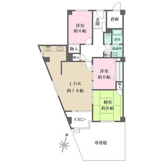 ニュー夙川マンションの間取図