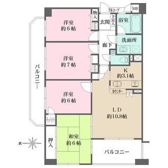 ファミール夙川宮西町の間取図