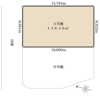 A号地の間取図