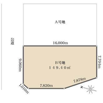 B号地の間取図