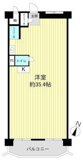 マンション住吉川の間取図