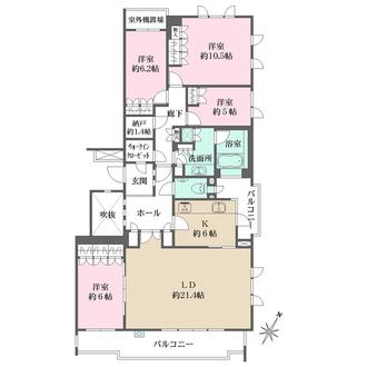 ザ・ハウス住吉本町の間取図