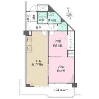 本山ロイヤルマンションの間取図