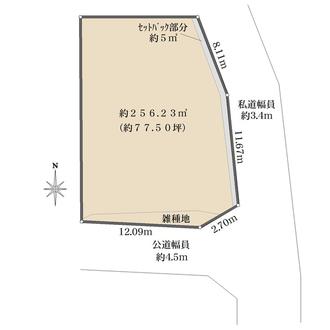 D号地の間取図