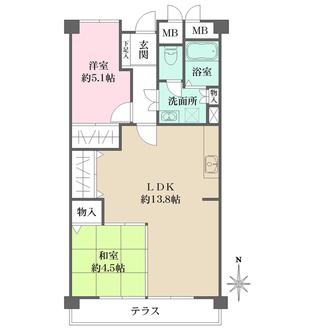 岡本パークマンションの間取図