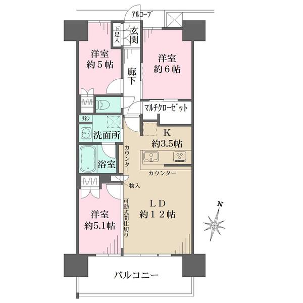シーフォレスト神戸 ルネ 六甲アイランドCITY の間取図