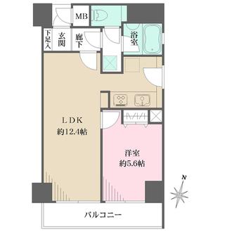 六甲道シティハウスの間取図