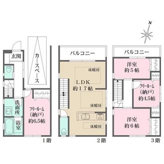 神戸市灘区天城通8丁目 新築戸建 A号地の間取図