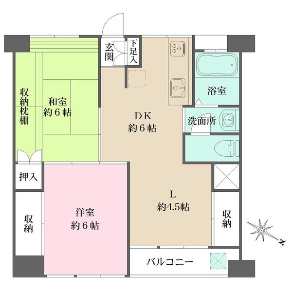 湊川公園ビルの間取図