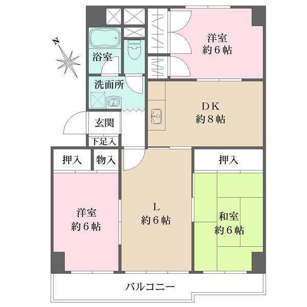 藤和しらさぎハイタウンの間取図