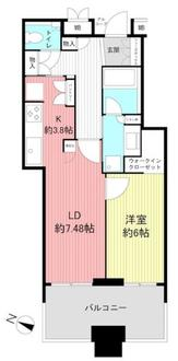 トア山手ザ・神戸タワーの間取図