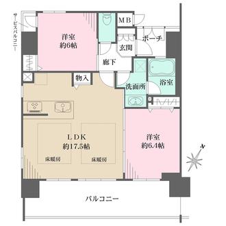 エステムコート神戸三宮プライムの間取図