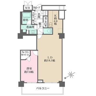 アーバンライフ神戸三宮ザ・タワーの間取図