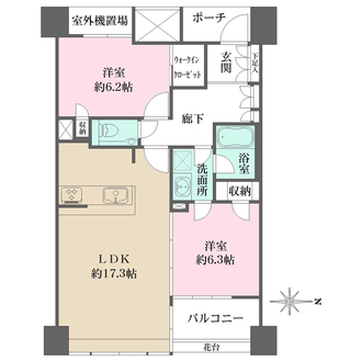 ルネ神戸旧居留地109番館の間取図