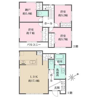 センシア神戸西舞子II 【2号地】の間取図