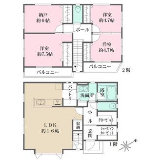 センシア神戸西舞子II 【3号地】の間取図