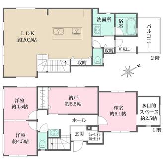 センシア神戸西舞子II 【4号地】の間取図