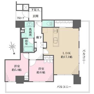 神戸ハーバータワーの間取図