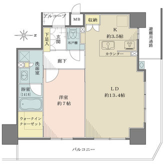 BELISTA神戸旧居留地の間取図