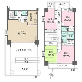 神戸熊内町パークハウスの間取図