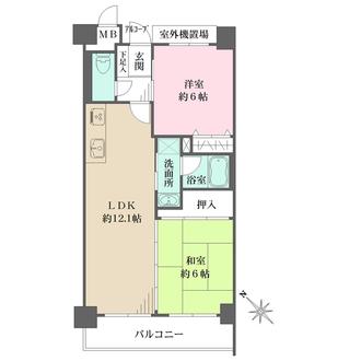 コスモ神戸上沢駅前の間取図