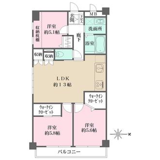 ビバリーハウス青谷壱番館の間取図