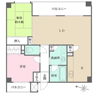 神戸野崎通アーバンライフの間取図