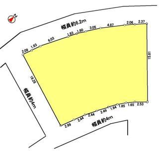 猪名川町松尾台土地の間取図