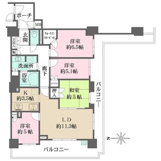 ローレルスクエア尼崎ルネ・ガーデンテラスの間取図