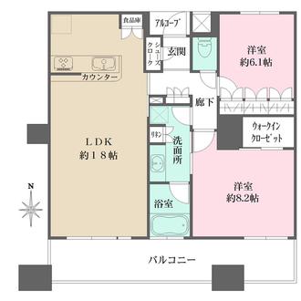 さきタワー・サンクタス尼崎駅前の間取図