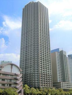 晴海アイランドトリトンスクエア ビュータワーの外観