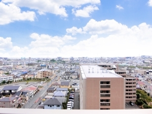 ライオンズ茨木ニューシティA街区の外観