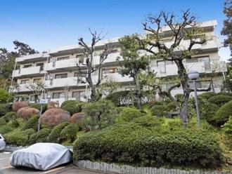 上野毛ガーデンハイツA棟の外観
