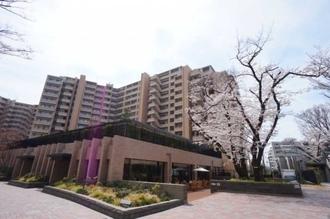 桜上水ガーデンズD棟の外観