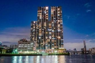 ワールドシティタワーズアクアタワーの外観